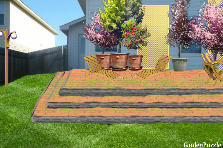 Garden design:3 Step Patio