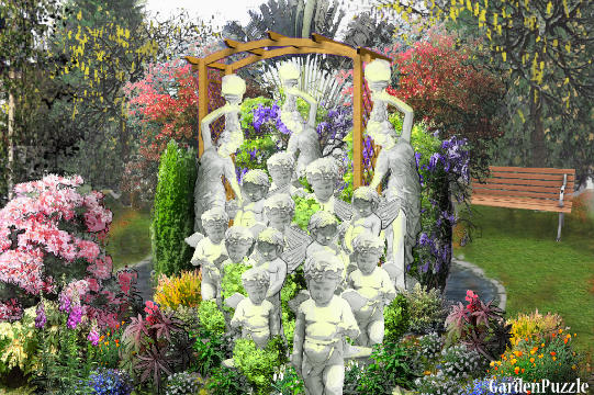 Garden design:The children will color the world.