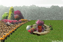 Garden design:main lawn center