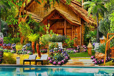 Garden design:Tropical Cabin Get A Way