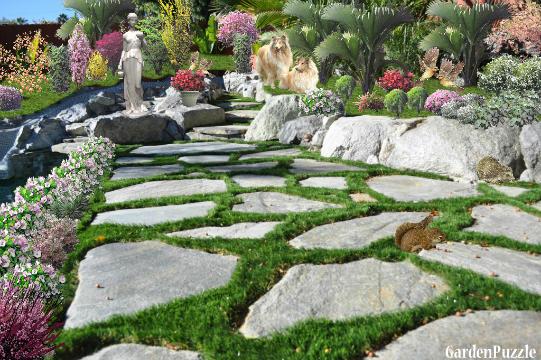 Nice garden gardenpuzzle online garden planning tool for Nice garden pictures
