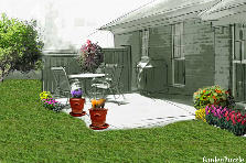 Garden design:terrace