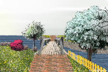 Garden design:new bridge