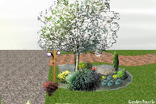 Garden design:Tree circle