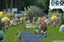 Garden design:enclave of the peace