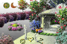 Garden design:Escrito en la arena.