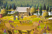 Garden design:Church Picnic