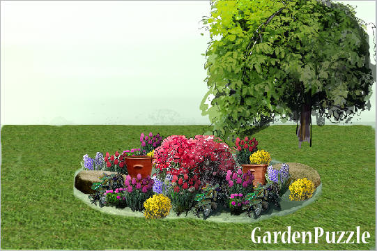 Garden Design With Front Circle Garden GardenPuzzle Online Garden Planning  Tool With Backyards From Gardenpuzzle.
