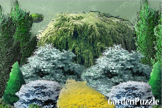Conifer garden test gardenpuzzle online garden for Garden design quiz