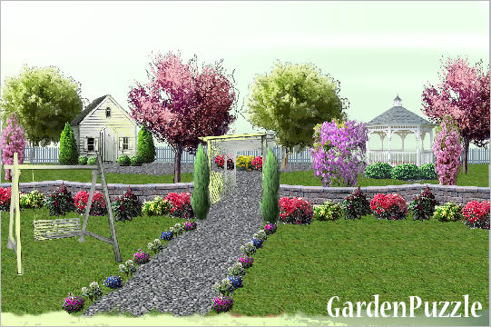 Cottage rose garden gardenpuzzle online garden for Mg garden designs