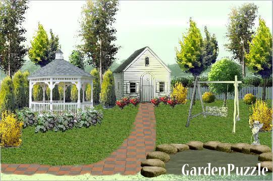 Cottage Front Yard GardenPuzzle Online Garden Planning Tool