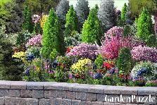 Garden designs tagged Evergreens perennials flowering
