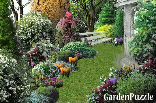 Hydrangea gardenpuzzle online garden planning tool - Hydrangea in garden design ...