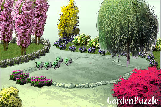Garden puzzle gardenpuzzle online garden planning tool for Gardening tools crossword