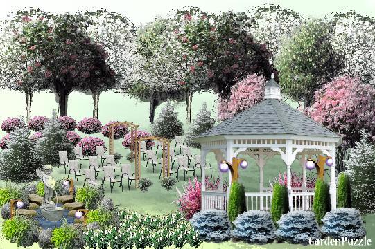 Wedding garden gardenpuzzle online garden planning tool for Marriage garden design