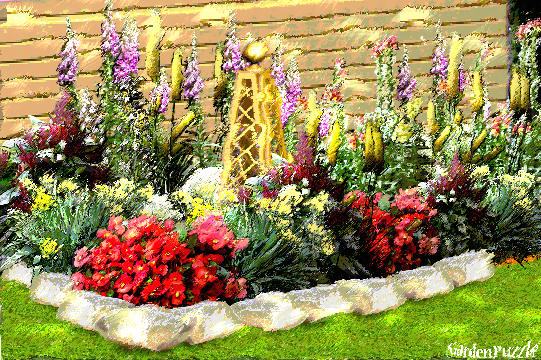 Flower bed gardenpuzzle online garden planning tool for Flower bed layouts