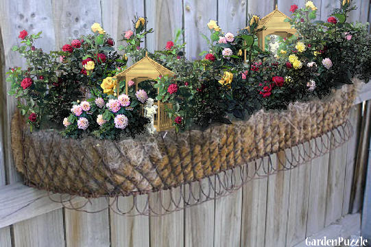 how to keep wire planters dry