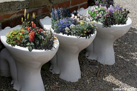 toilet bowl creative diy planter gardening
