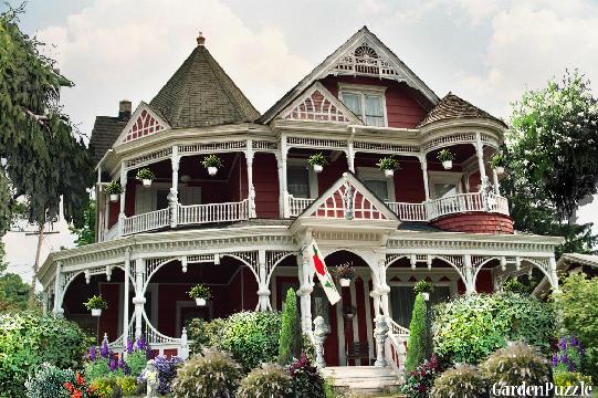 Queen Anne Empire Old Victorian House Gardenpuzzle