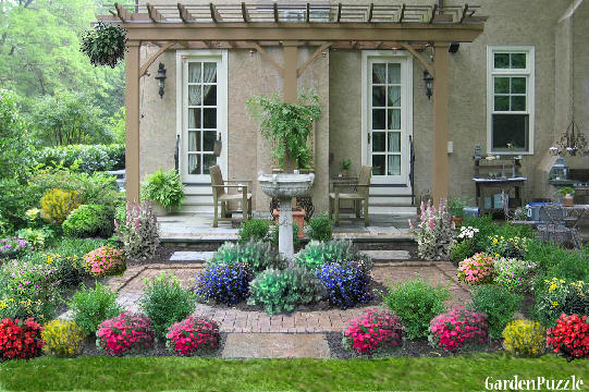Cottage garden gardenpuzzle online garden planning tool for Garden design ideas cottage