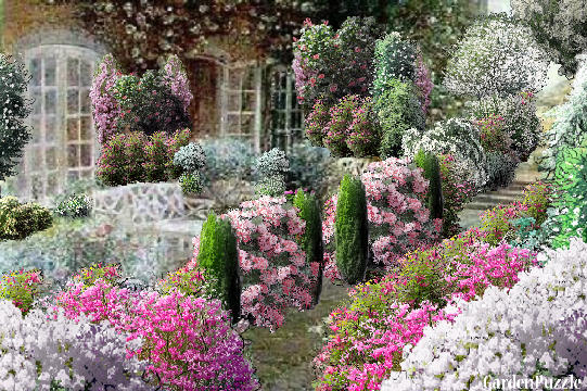 An old english garden gardenpuzzle online garden for English garden designs