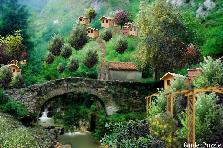 Old Stone Bridge In Quaint Mountian Villa - Spring