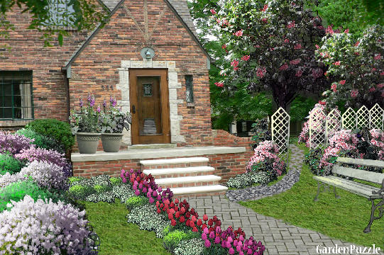 Small Tudor Home My Version Gardenpuzzle Online