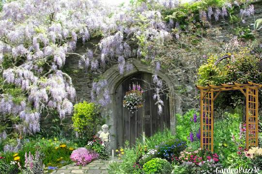 Seculded Old English Garden GardenPuzzle online garden