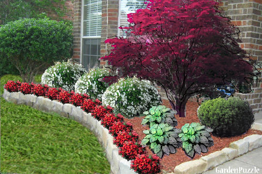 Garden Design With Front Entrance Gardenpuzzle Online Garden Planning Tool With Backyard Design Ideas From Gardenpuzzle