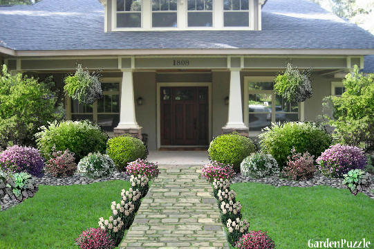 Craftsman different style gardenpuzzle online garden for Different garden designs