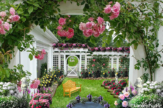 Garden Design: Garden Design With Enchanting Herb And Rose Garden