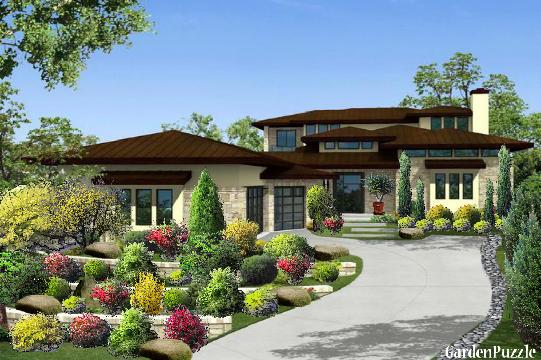 Tiered landscape gardenpuzzle online garden planning tool for Tiered garden designs