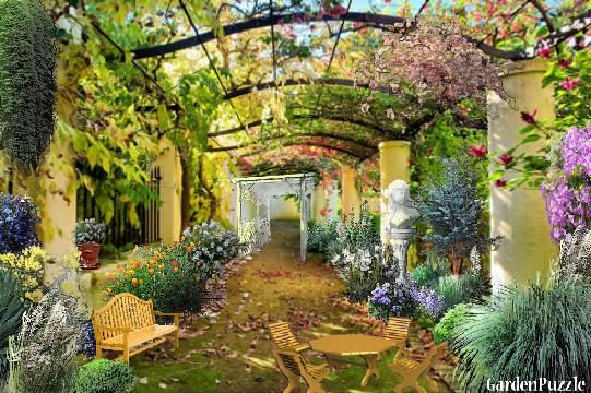 ITALIAN COURTYARD GardenPuzzle Online Garden Planning Tool