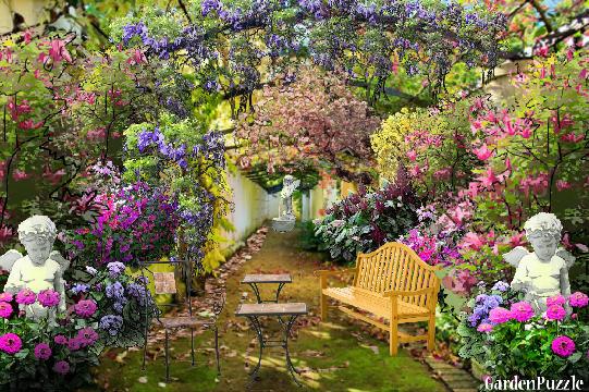 Italian Courtyard Redesign Gardenpuzzle Online Garden Planning Tool