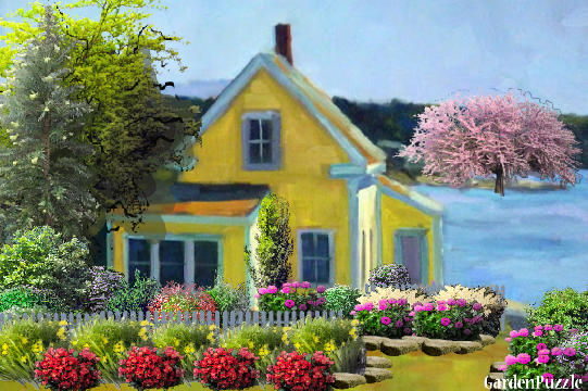 little house by the sea gardenpuzzle online garden. Black Bedroom Furniture Sets. Home Design Ideas