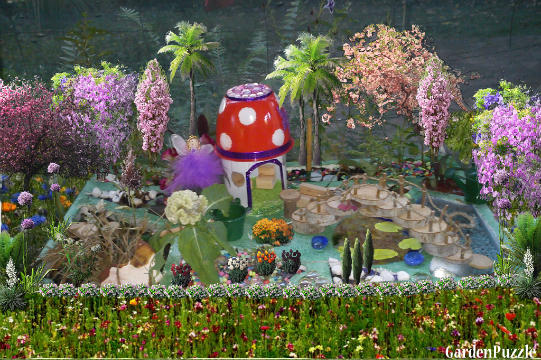 Garden Design With My Recycled Fairy Garden. GardenPuzzle Online Garden  Planning Tool With Landscaping Books