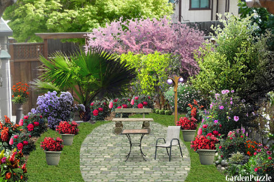 Perfect ... Garden Design With Corner GardenPuzzle Online Garden Planning Tool With  Outdoor Bamboo Plants From Gardenpuzzle.